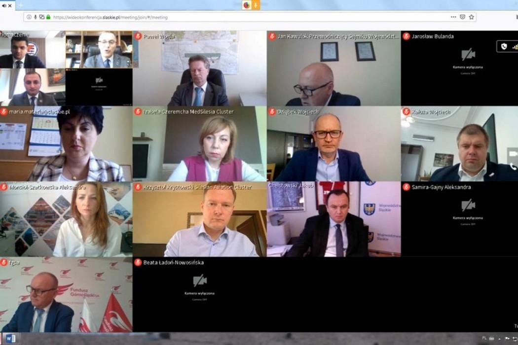 Wideokonferencja z udziałem przedstawicieli Województwa Śląskiego oraz Adżarskiej Republiki Autonomicznej
