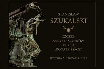"""Wystawa czasowa """"Stanisław Szukalski i Szczep Szukalszczyków herbu »Rogate Serce«""""."""