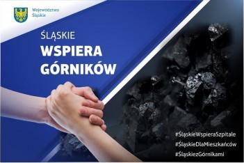 Śląskie wspiera górników / graf. UMWS