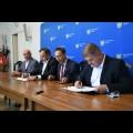 Podpisanie umowy na budowę trasy rowerowej w ciągu Regionalnej Trasy Rowerowej na Jurze. fot. Patryk Pyrlik / UMWS