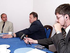 Pavel Novák z pierwszego programu Czeskiego Radia (pierwszy z prawej)