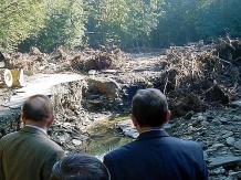 Marszałek Michał Czarski poznał rozmiary strat powodziowych w Porąbce