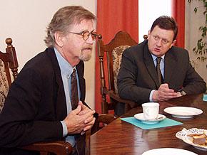 Od lewej: Felix Korfanty i Marszałek Michał Czarski