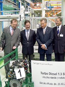 Wizyta w fabryce silników Fiat GM Powertrain Polska w Bielsku-Białej