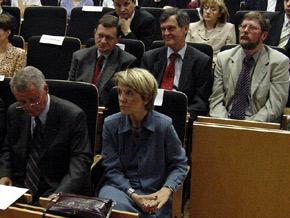 Zebrani w auli Wydziału Nauk Społecznych