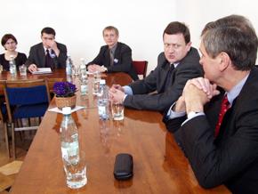 Spotkanie z młodzieżą Marszałka Michała Czarskiego oraz Wojewody Lechosława Jarzębskiego