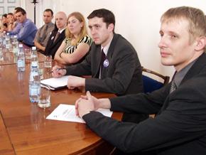 Młodzież zrzeszona w Forum Młodych SLD w Sosnowcu