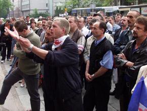 Związkowcy działający w przedsiębiorstwach komunikacji miejskiej na terenie aglomeracji katowickiej