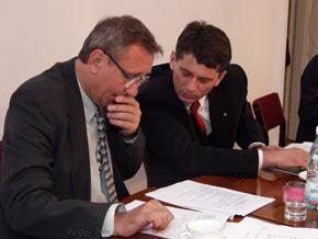 prof. Wiesław Włoch i Wicemarszałek Jan Grela