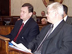 Marszałek Michał Czarski i wicepremier Jerzy Hausner