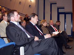 Od lewej poseł na Sejm RP Zbyszek Zaborowski i marszałek Michał Czarski