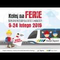 Grafika: Kolej na Ferie – bezpłatne przejazdy dla dzieci i młodzieży 9-24 lutego 2019 / graf. UMWS